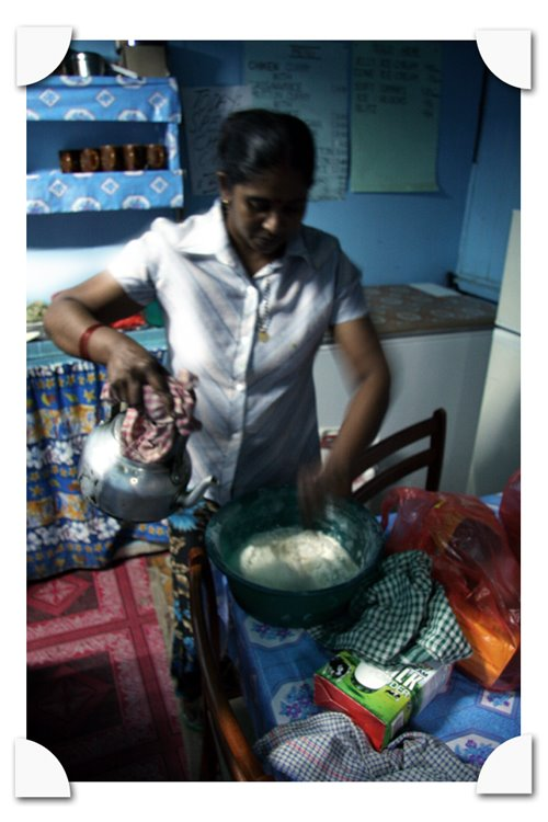 the indian Kiosk in Savusavu fiji next to the market, kamla makes the roti from scratch