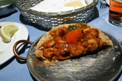 photograph picture of the Maharani, soho, indian restaurant prawn puri