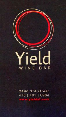 photograph picture of yield winebar san francisco logo