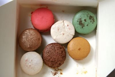 photograph picture of macarons from Pierre Herme's Vaugirard Store in Paris