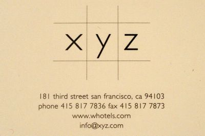 photograph picture XYZ w hotel san francisco restaurant review