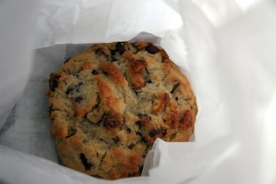photograph picture cookie from levain bakery in new york