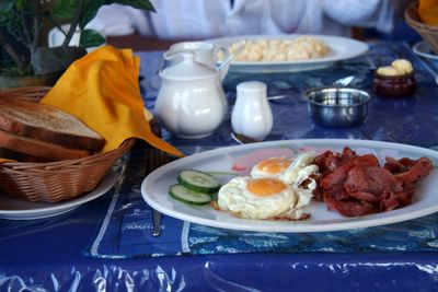 photograph picture image of the breakfast at Vilistes on Viti Levu, Fiji