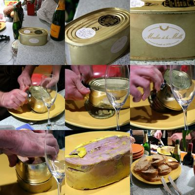 photograph picture collage of foie gras