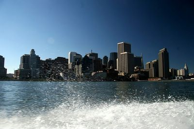 photo picture image looking at down town san francisco from the bay