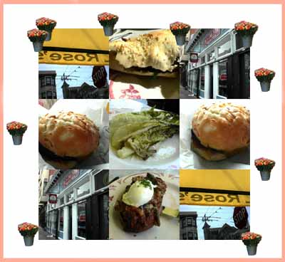 photograph picture collage of Rose's Cafe & Rosamunde Sausage Grill, both in San Francisco