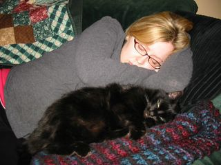 Bossa and me having a nap