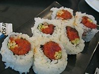 mi song japanese restaurant, rowland heights, los angeles, ca - spicy tuna roll