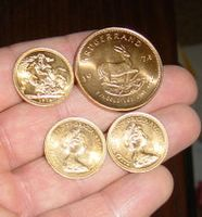 gold coins at hand