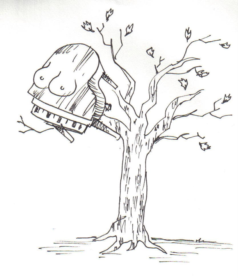 Piano in a Tree with Breasts