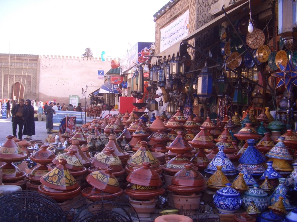 Food souk in Meknes, Morocco