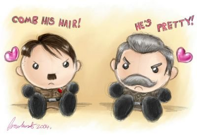 Hitler and Stalin dolls