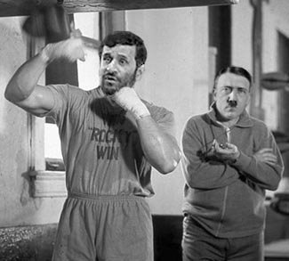 Ahmadinejad with his trainer