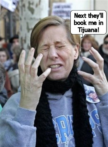 Media whore Cindy Sheehan goes to Europe