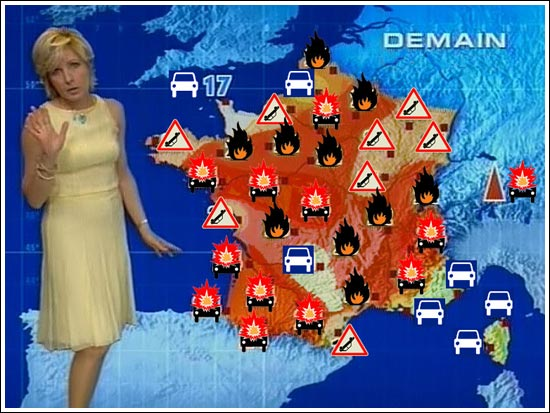 Today's forecast for France