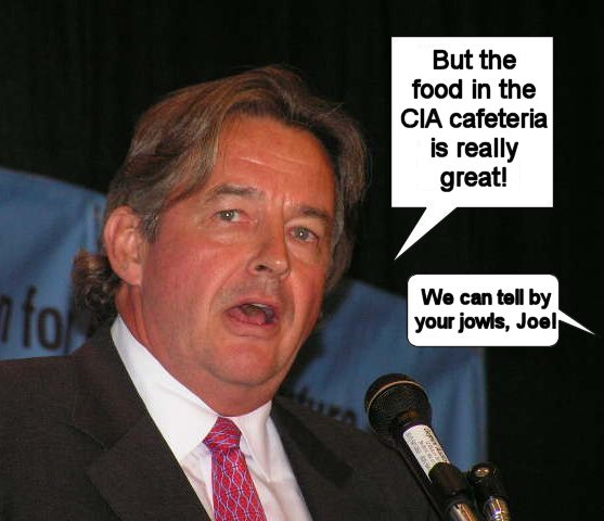 Joe Wilson recomends the CIA trough, er cafeteria