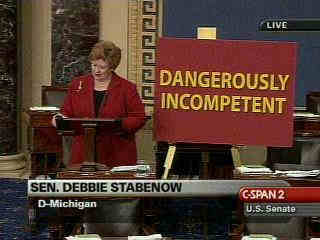 Debbie Stabenow with her own caption!