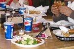 hamburgers and coke at Dukes