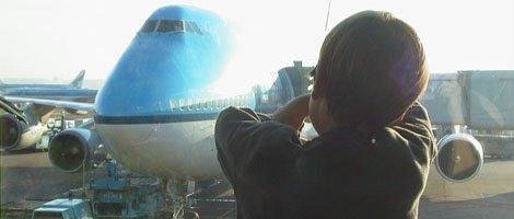 wachten tot het vliegtuig vertrekkensklaar is