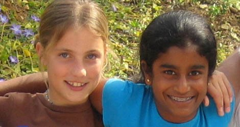 Cathryn and Sneha, best friends