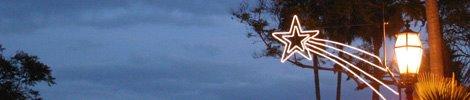 kerstige sfeer in Santa Barbara