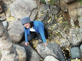 Lindsay rock climbing?