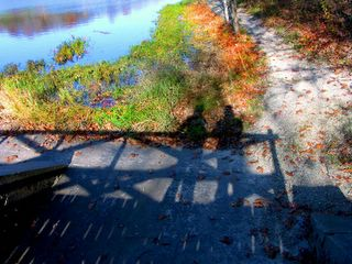 Lovers on a bridge
