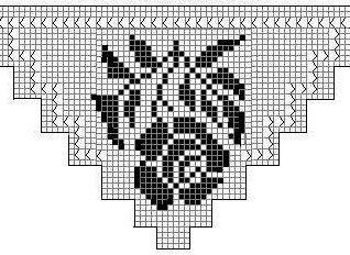 motifkaregul2 Üzümlü Dantel Sehpa Örtüsü Yapılışı