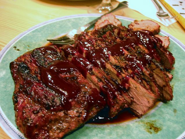 Steak With Ginger Plum Barbecue Sauce Recipes — Dishmaps
