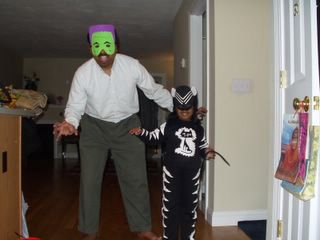 Halloween Kitty & Frankenstein