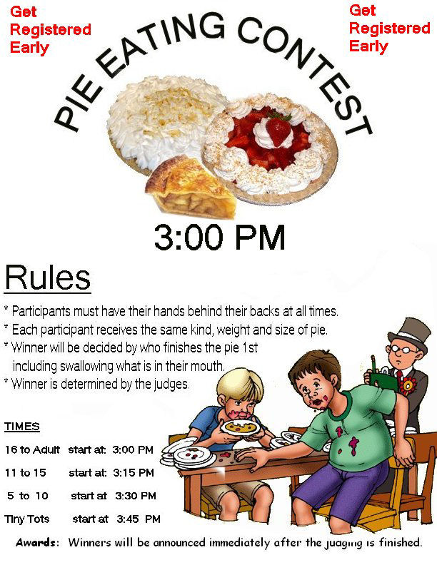 how to plan a pie eating contest