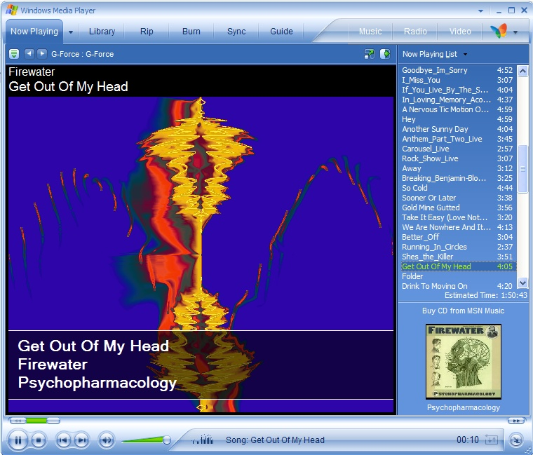 windows media player how to change visualization