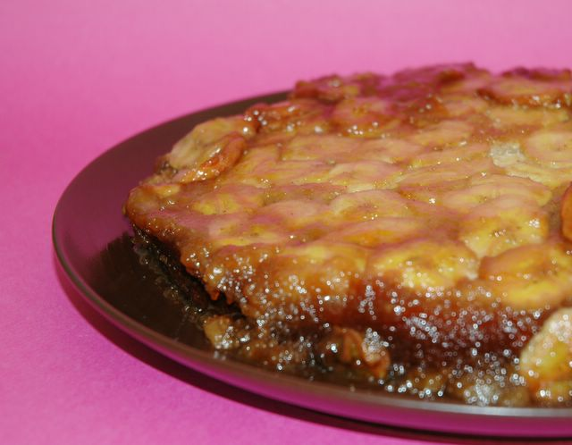 Anne's Food: Upside-down Banana Caramel Cake