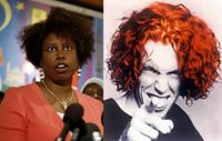 Cynthia McKinney and Carrot Top