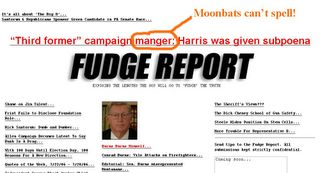 Fudge Report Moonbat's Can Not Spell