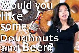Doughnuts Beer and Michelle Malkin