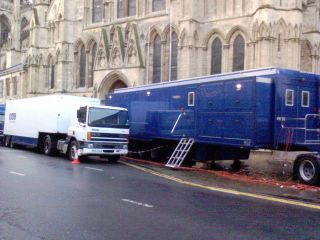 Another view of the Outside Broadcast Unit at York Minster
