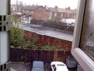 snow from my bedroom window