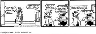 Andy Capp and Mother-In-Laws don't mix