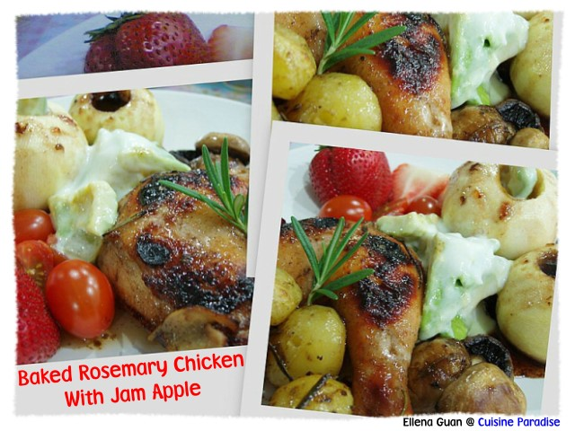 ... | Recipes, Reviews And Travel: Baked Rosemary Chicken With Jam Apple