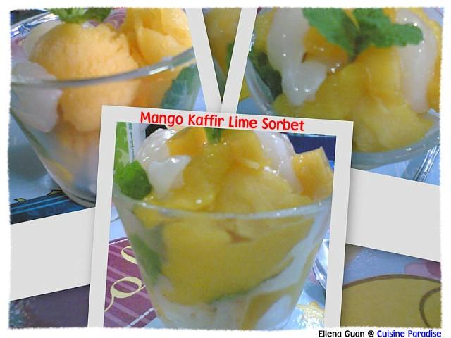 ... Food Blog | Recipes, Reviews And Travel: Mango Kaffir Lime Sorbet