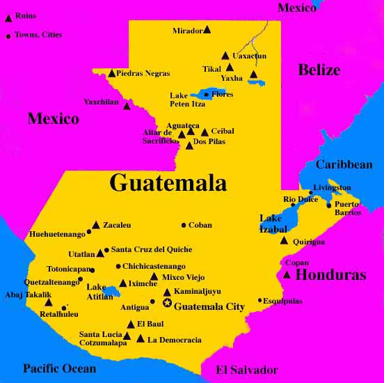 Rob And Carley CHRISTMAS IN PETEN Guatemalas Jungle Frontier - Departments map of guatemala