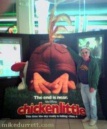 Photo: Buddies Chicken Little and Mike Durrett.