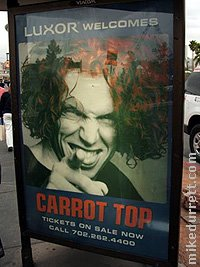 Carrot Top sign