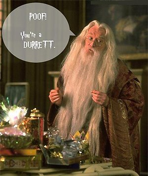 Photo: Harry Potter's Dumbledore casts a spell.