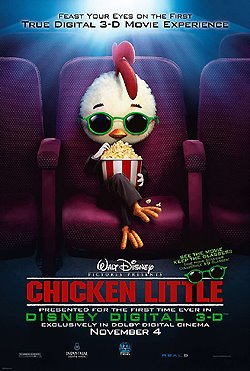 Photo: Chicken Little one-sheet movie poster.