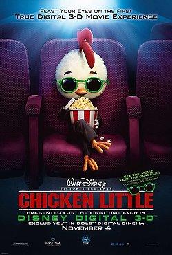 Photo: Chicken Little one-sheet movie poster.