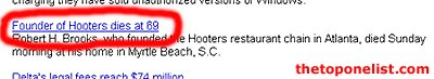Atlanta Journal-Constitution quote: Founder of Hooters dies at 69