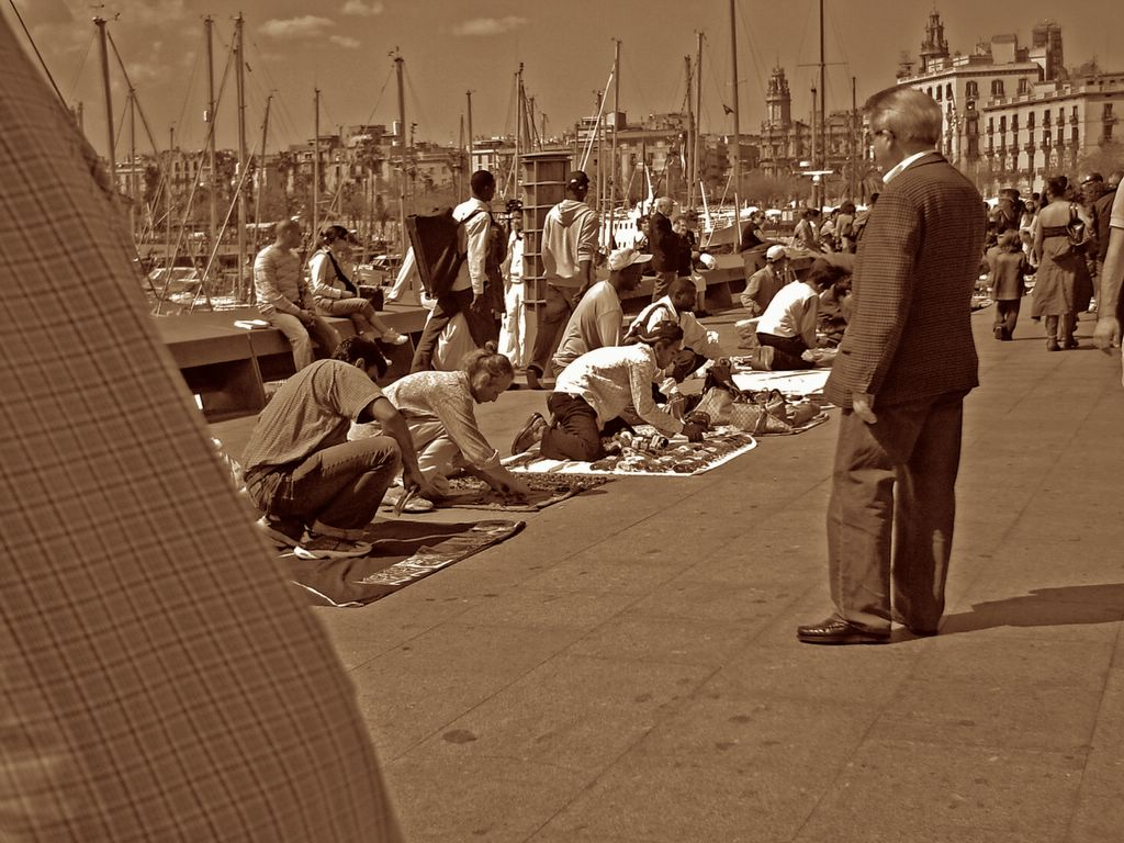 Black Market at Barcelona Port