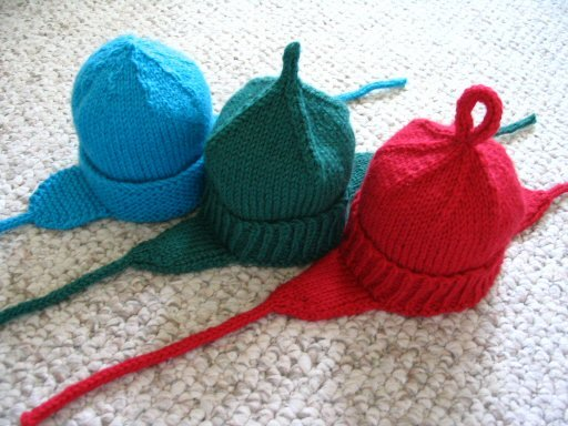 Knitting Pattern For Toddler Hat With Earflaps : Strings and Sealing Wax: Infant Earflap Hat